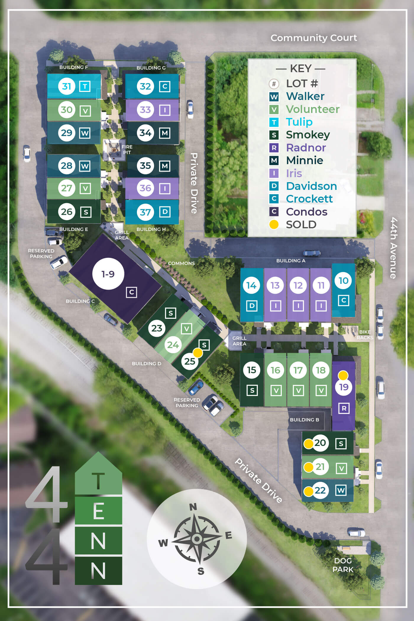 Find your new townhome's location on our Community Plan